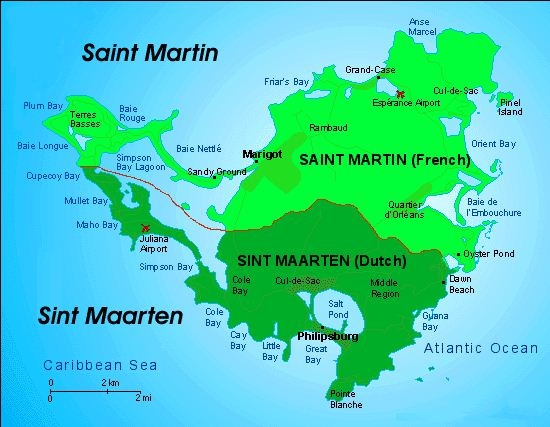Map of St_Maarten St_Martin
